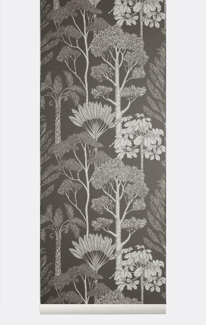 Trees Wallpaper – Brown Grey