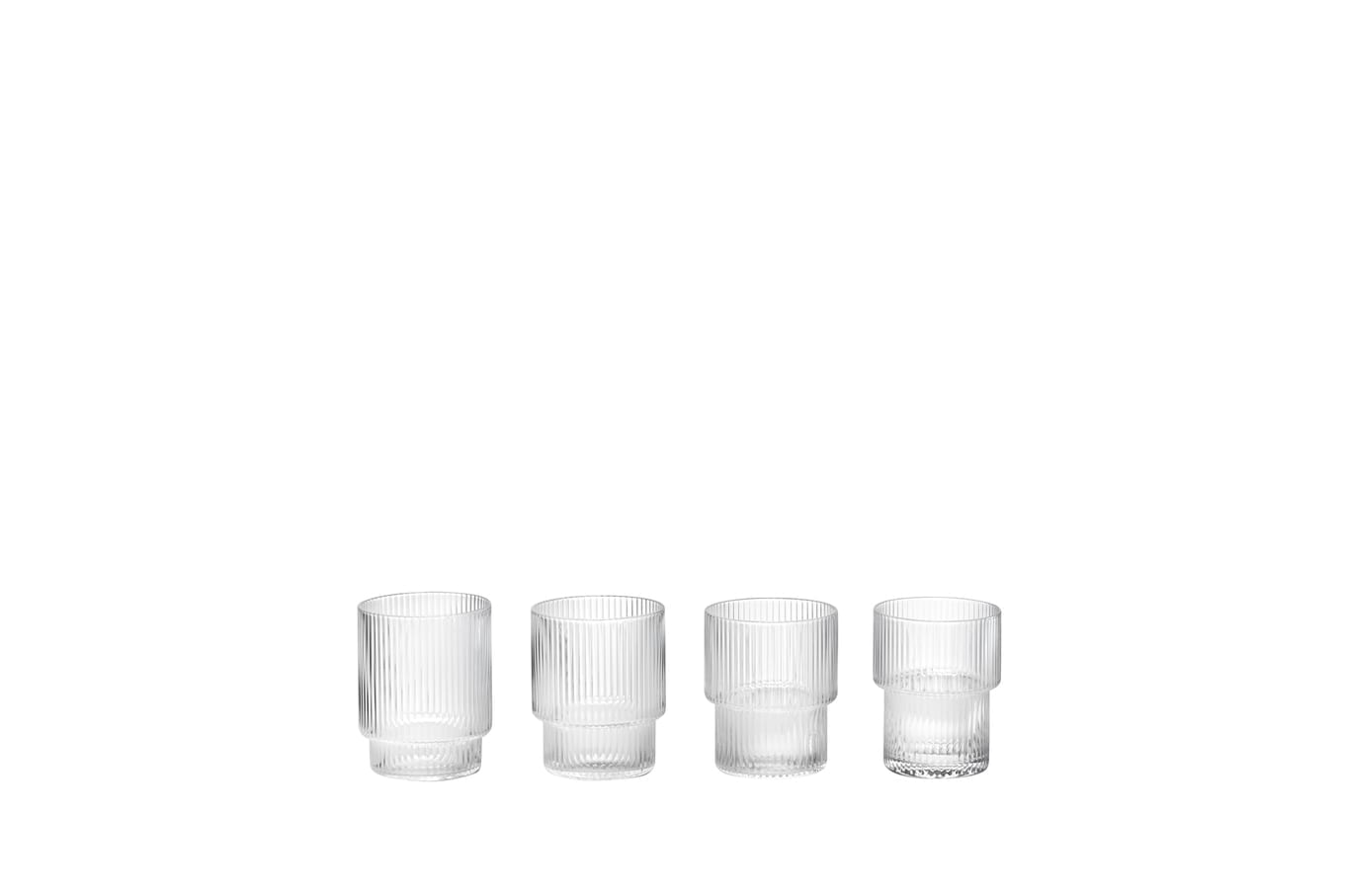 Ripple  Espresso Glasses- Small (Set of 4)