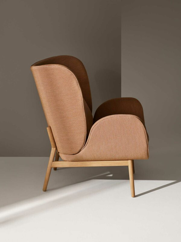 כסא מעוצב - גוון חום - FOGIA