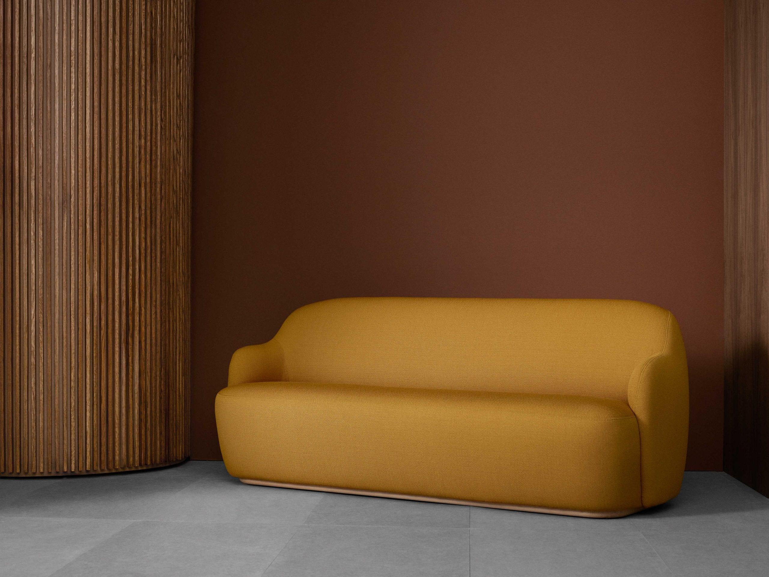 ספה מעוצבת בצבע חרדל - FOGIA