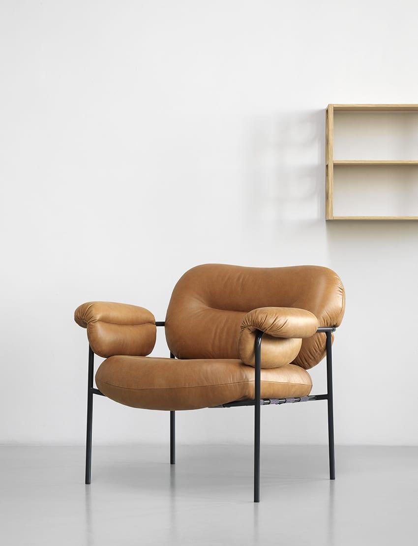 כסאות מעוצבים - גוון חום FOGIA