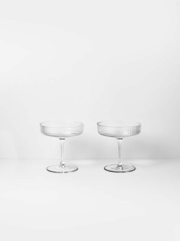 Ripple Champagne Saucer (set of 2)
