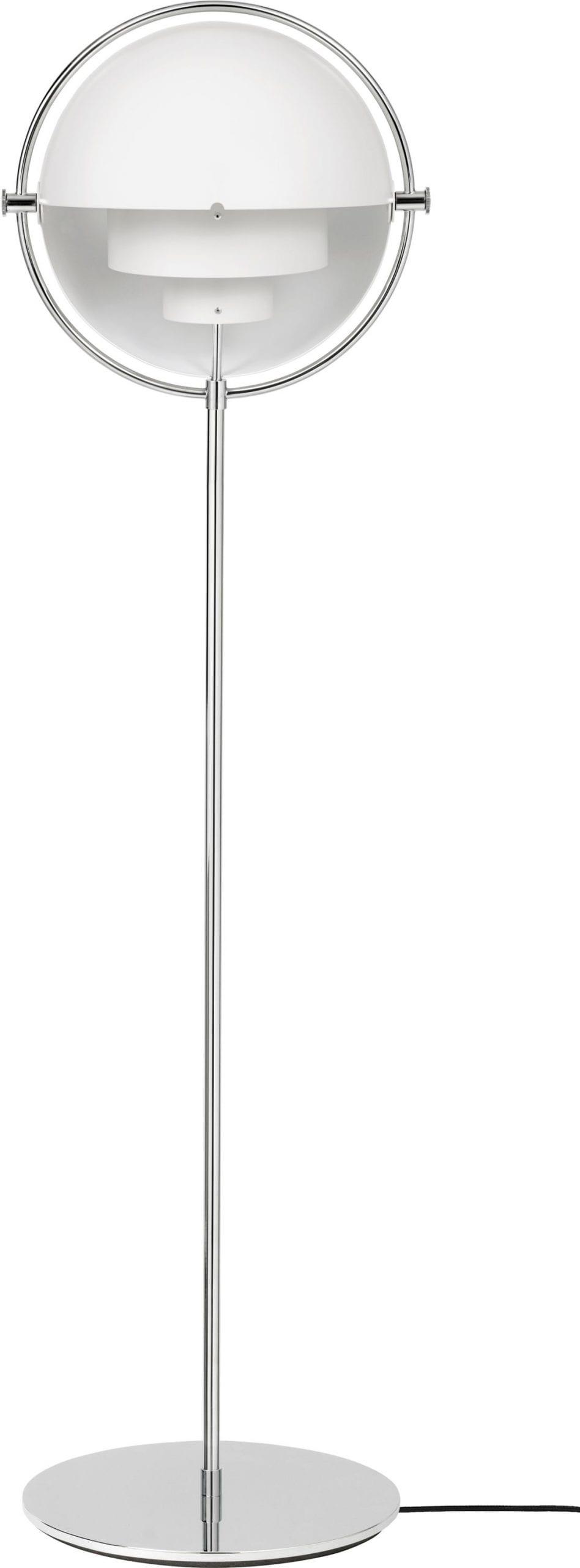 Multi Lite Floor Lamp – Chrome Base