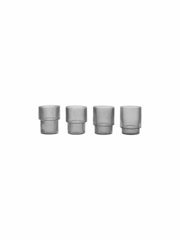 Ripple Glasses-  (set of 4)