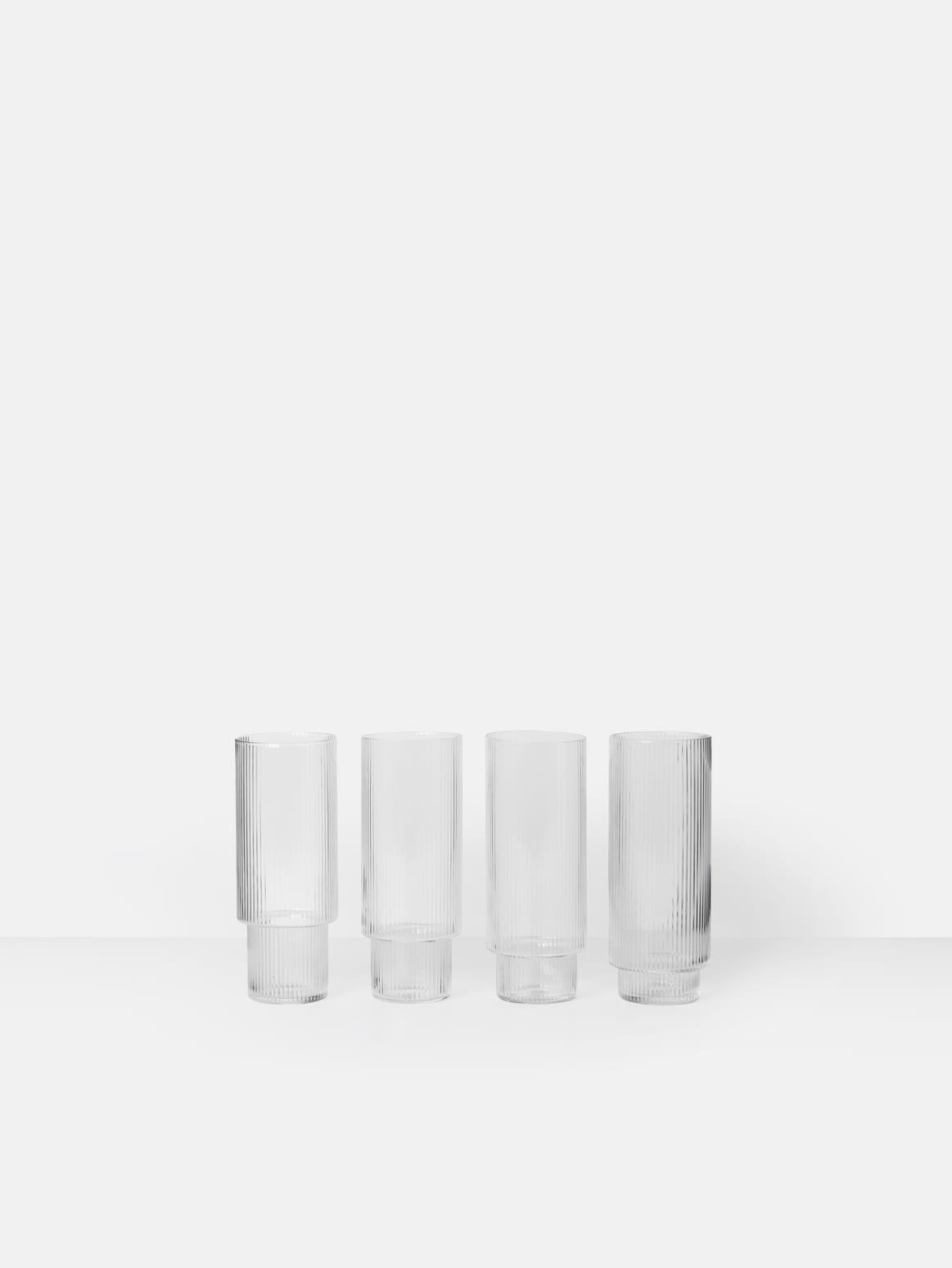 Ripple Long Drink Glasses (set of 4)