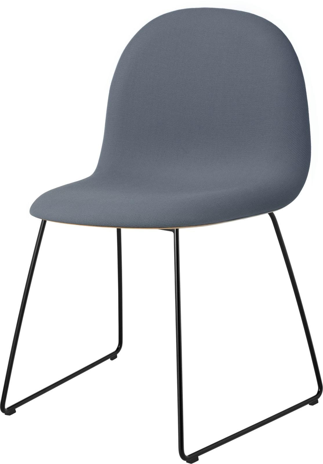 3D Dining Chair- Front Upholstered, Sledge Base