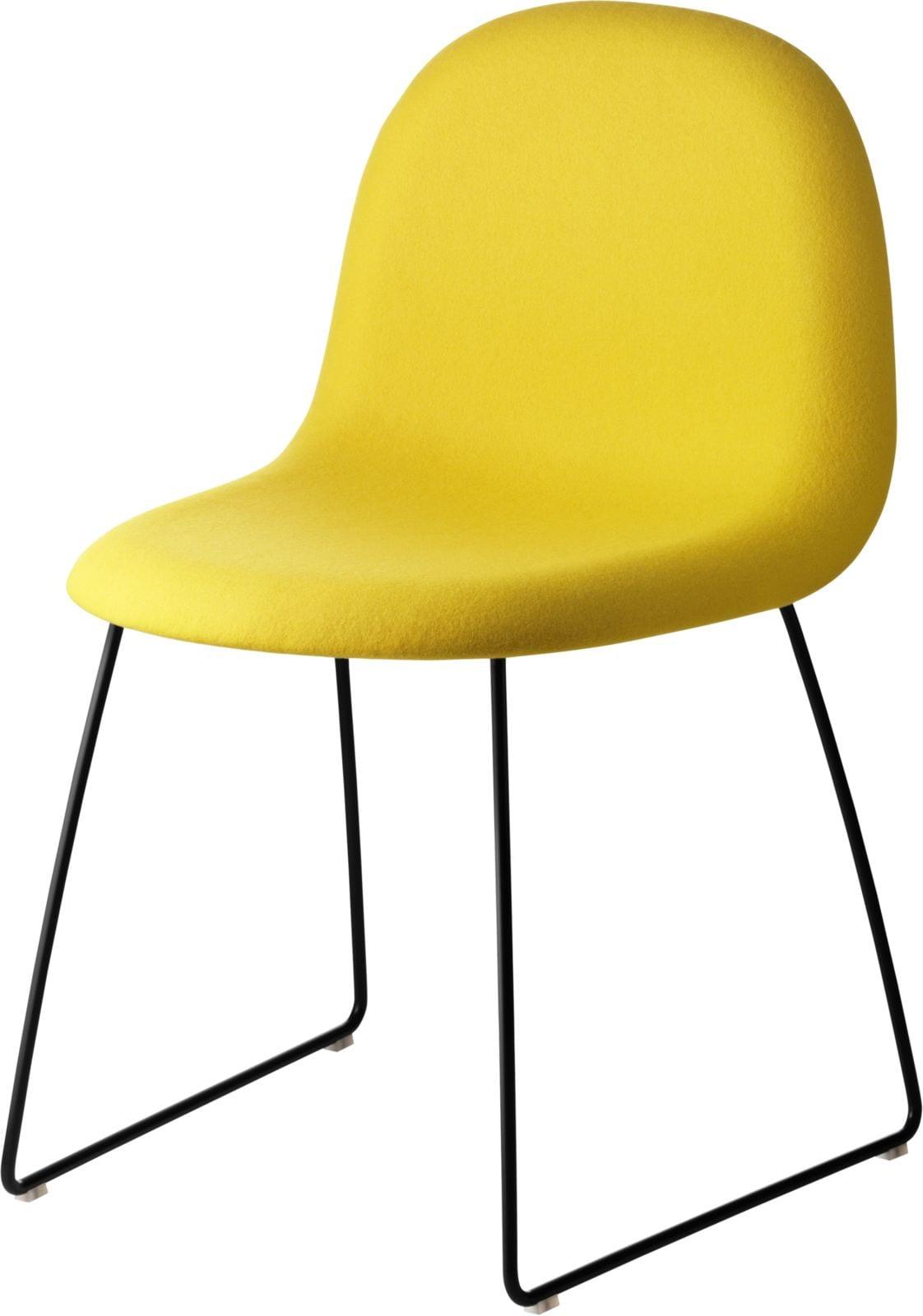 3D Dining Chair- Fully Upholstered, Sledge Base