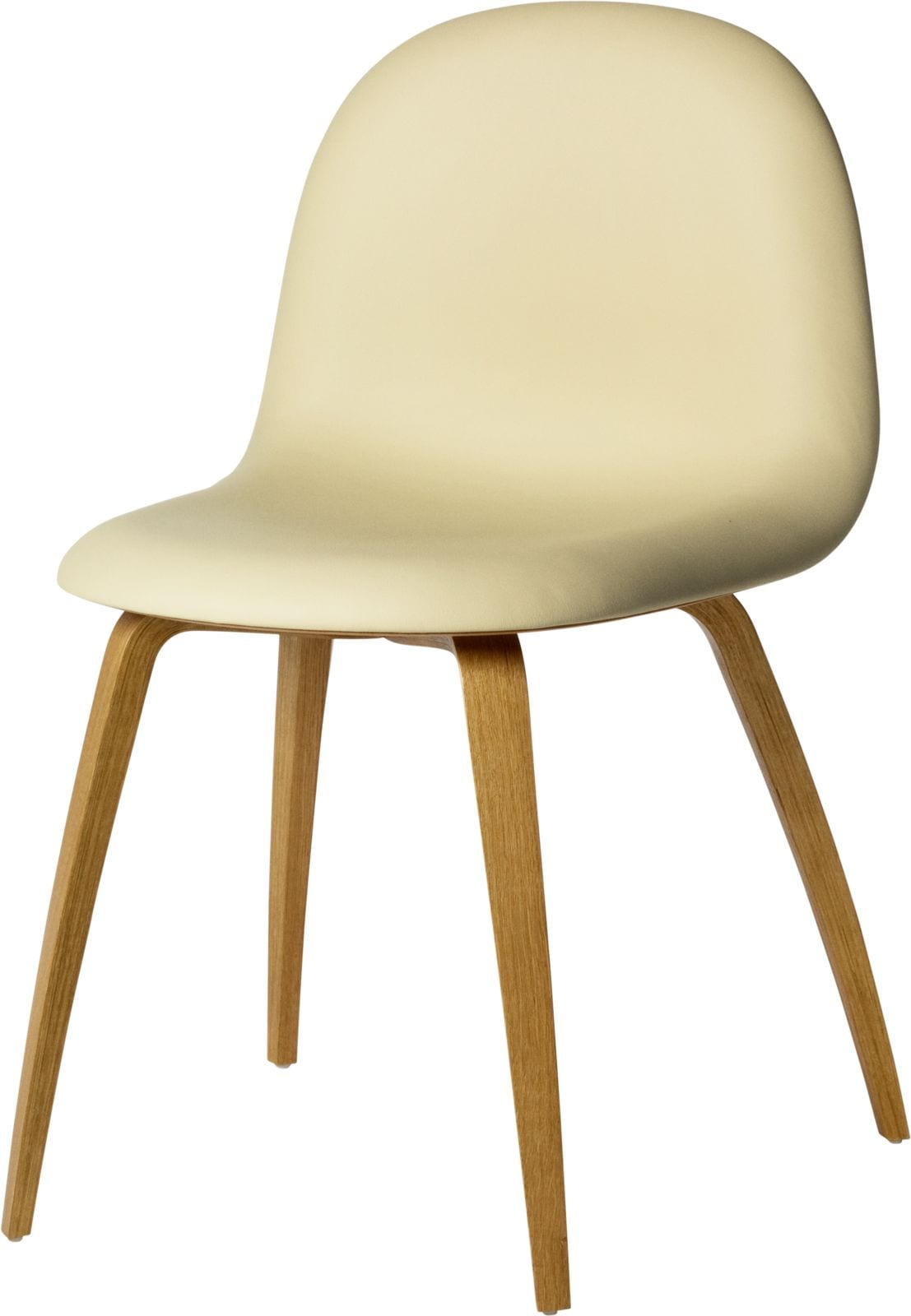 3D Dining Chair- Front Upholstered, Wood Base