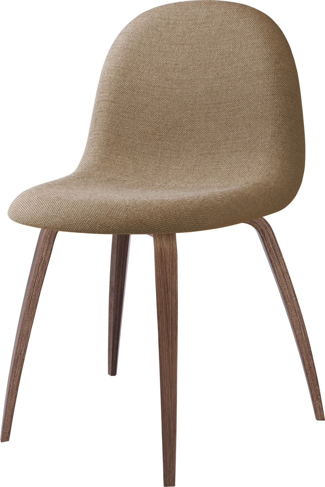 3D Dining Chair- Fully Upholstered, Wood Base
