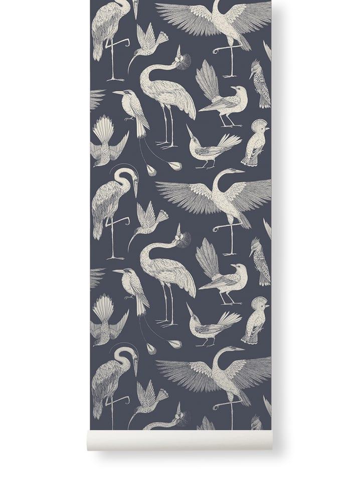 Birds Wallpaper- Dark Blue