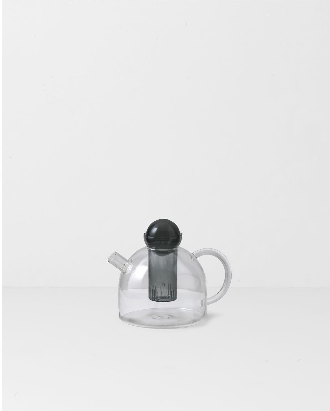 קנקן תה מעוצב מזכוכית - כלי בית יוקרתיים