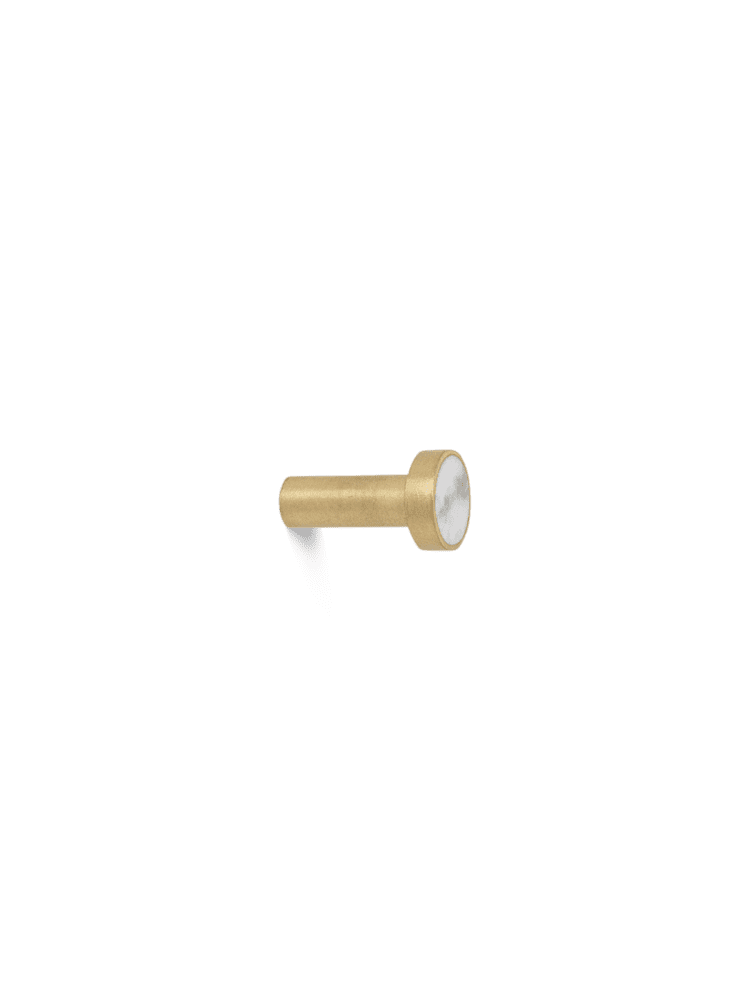 מתלה מעוצב עשוי בראס ומשובץ באבנים/ שיש