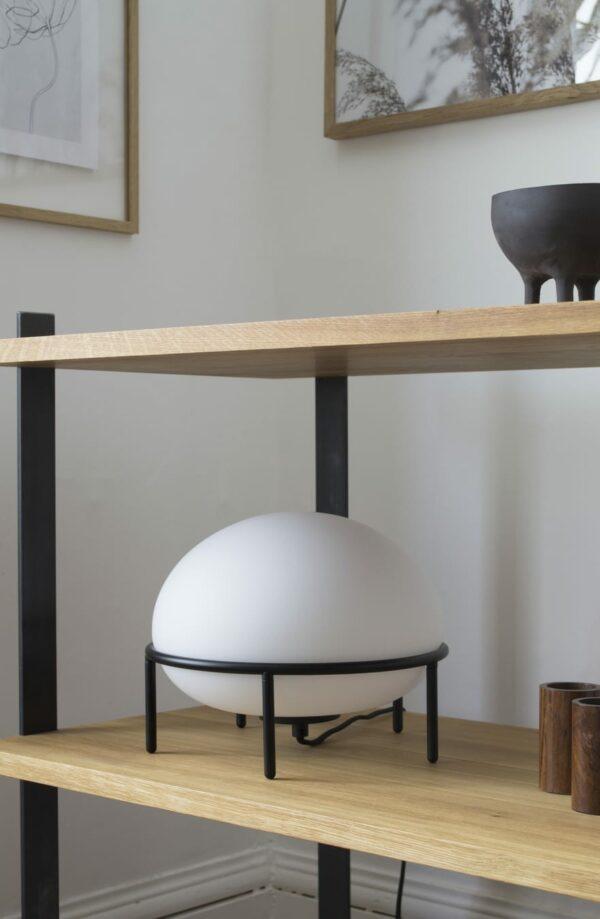 מנורות שולחן מעוצבות עם זכוכית אופל רכה