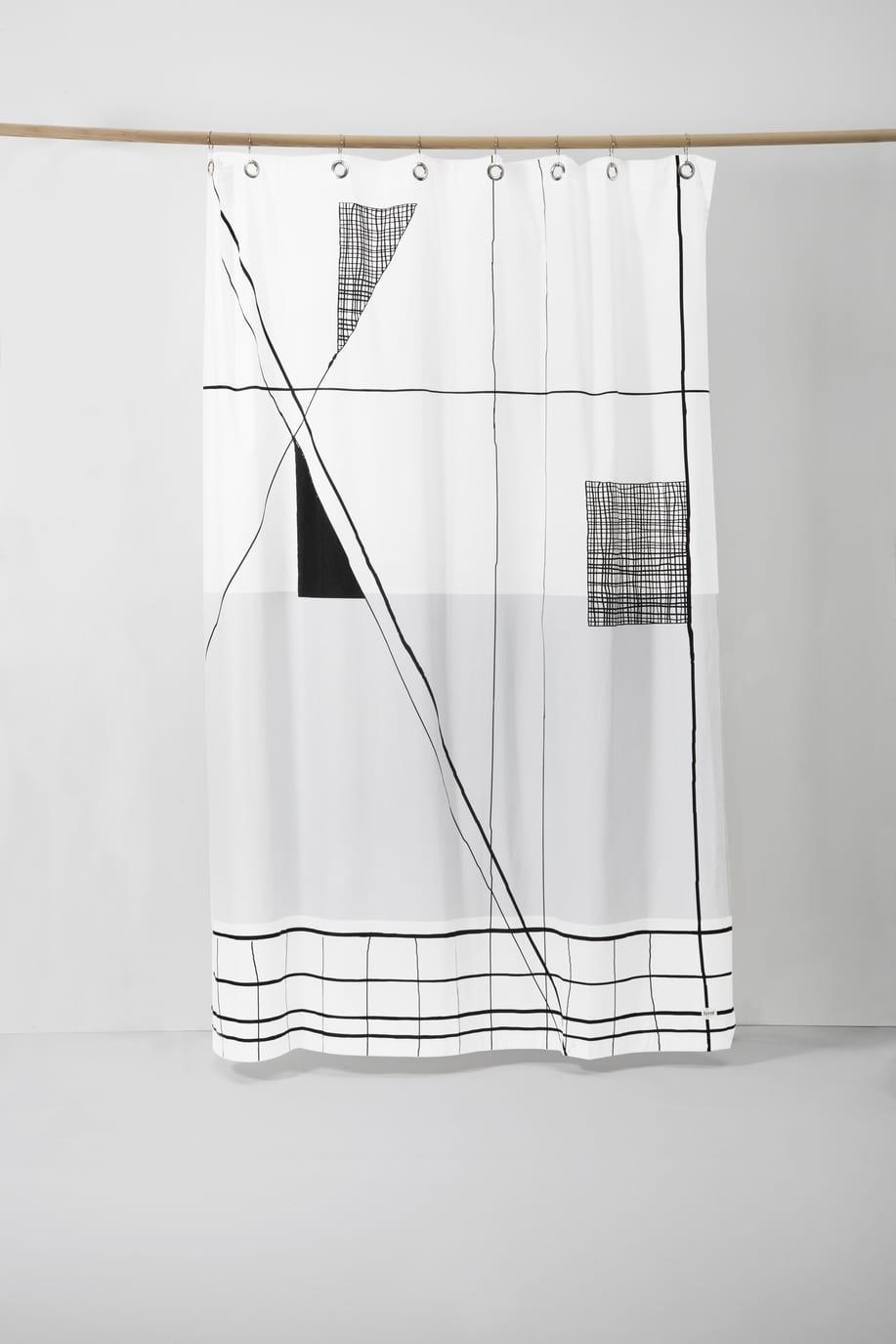 וילון מקלחת בעיצוב מודרני